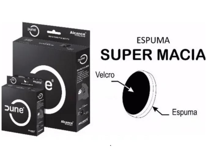 Boina De Espuma Preta  5'' Supermacia Dune Alcance Lustro