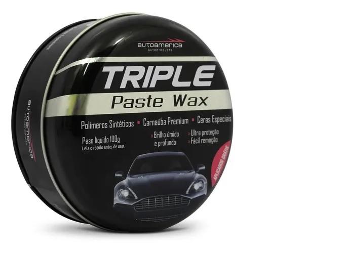 Cera Automotiva Carnaúba 100g Triple Wax Premium Top