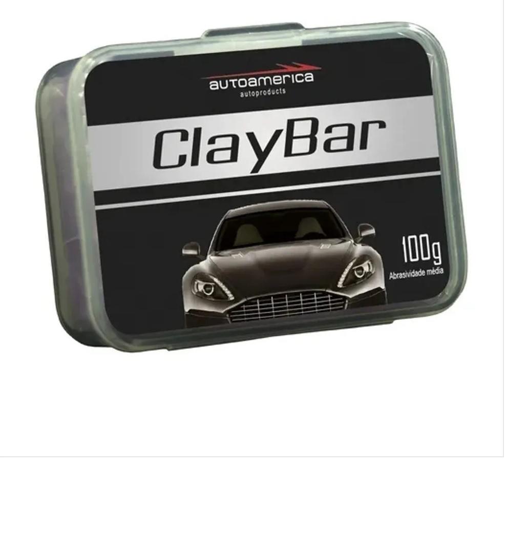 Kit Autoamerica Cera Carnaúba 300gr, Claybar+ 02 Microfibra