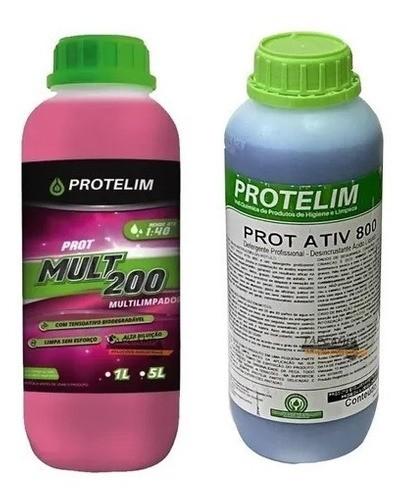 Kit Limpeza Pesada Prot Mult 200 + Prot Ativ 800 Protelim 1l