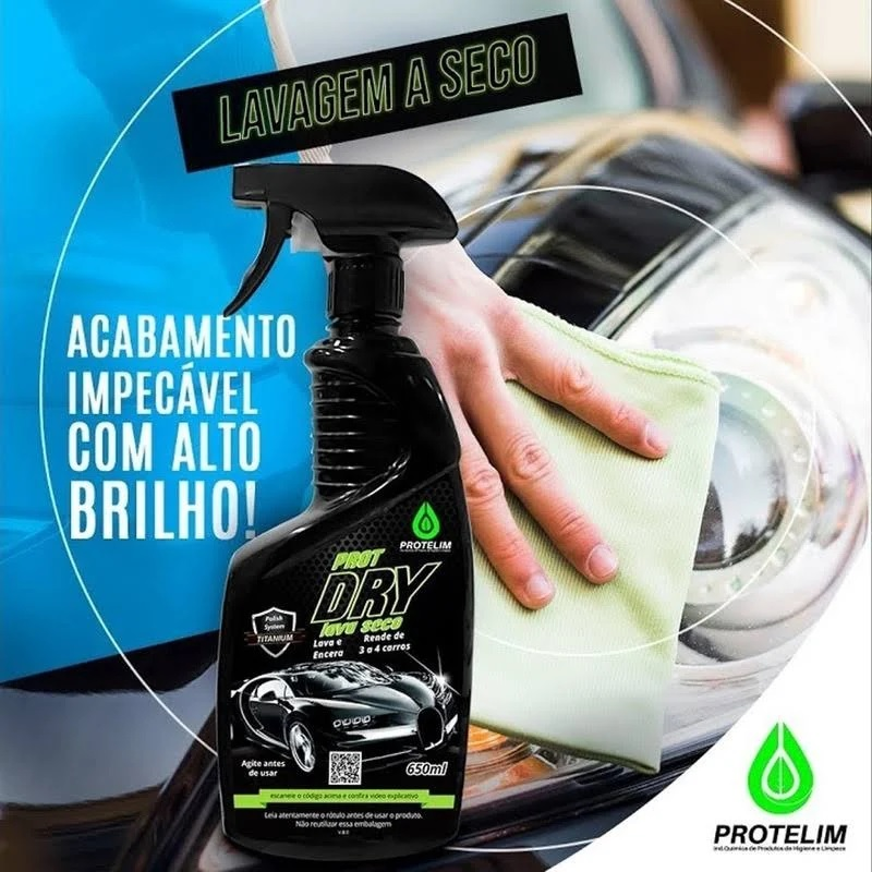 Lavagem A Seco Automotivo Protelim 650ml+1microfibra
