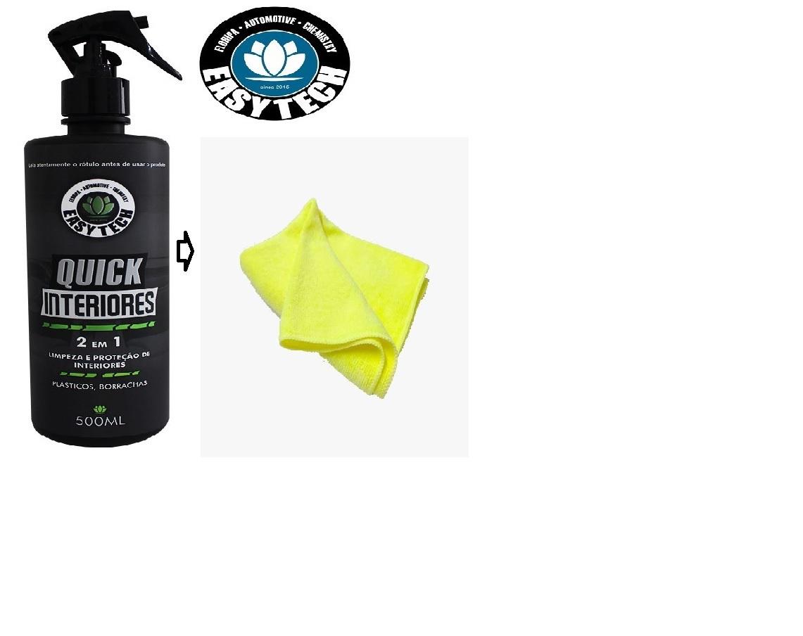 Limpador E Protetor Apc Quick Interiores 500ml Easytech + Flanela Protelim