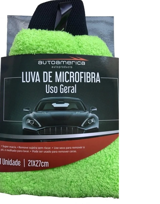 Luva De Microfibra Uso Geral 21x27 Cm - Autoamerica