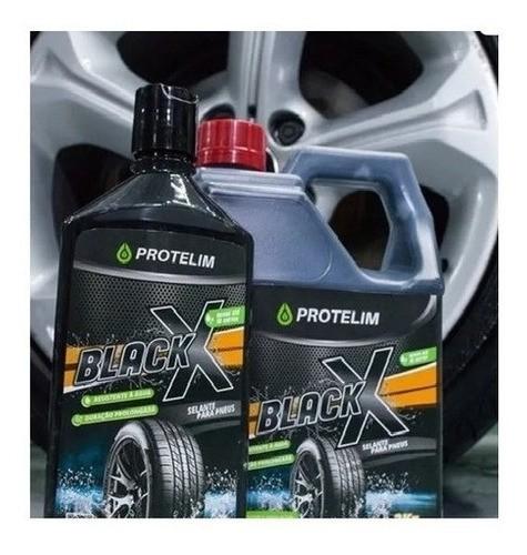 Pretinho Black X 500ml Protelim + Power Tire Protelim