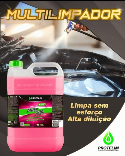Prot Multi 200 Limpador Multiuso Ecco Carpetes Rodas Motor