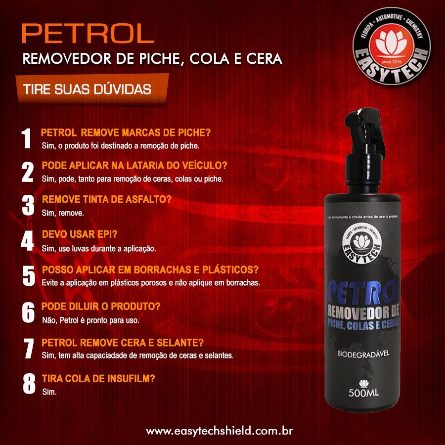 Removedor De Piche Cola Grude Cera Petrol 500ml  Easytech