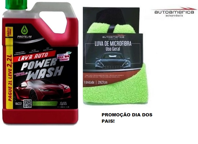 Shampoo Automotivo Power Wash Protelim + Luva Autoamerica