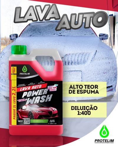 Shampoo Power Wash Protelim 2,2l Luva Microfibra Cadillac