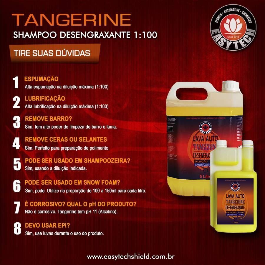 TANGERINE Shampoo Desengraxante 1:100 Super Concentrado