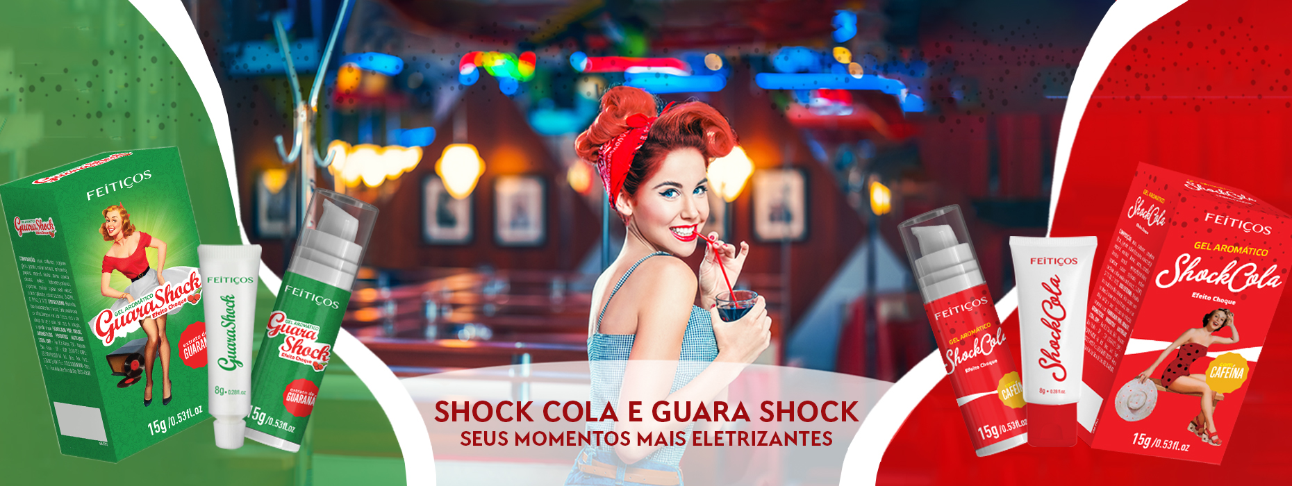 Gel Eletrizante - Guara Shock & Shock Cola
