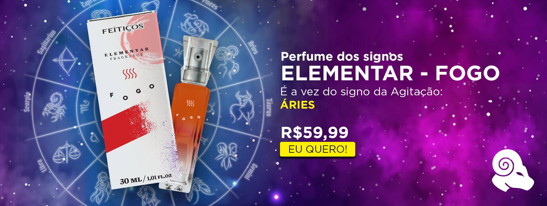 Perfume dos Signos - Elementar Fogo - Áries