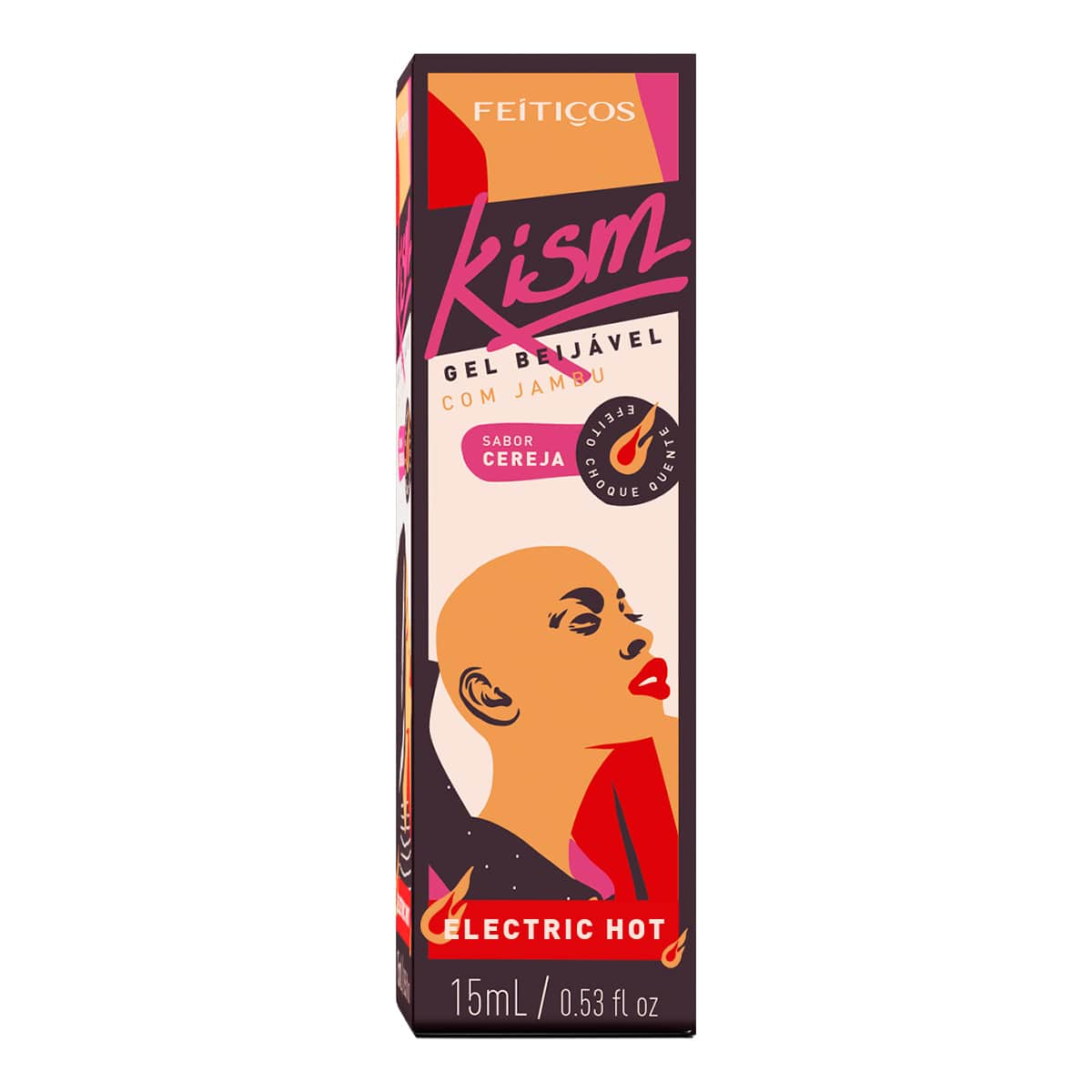 KISM - Gel Beijável com Jambu - Sabor Cereja - Electric Hot