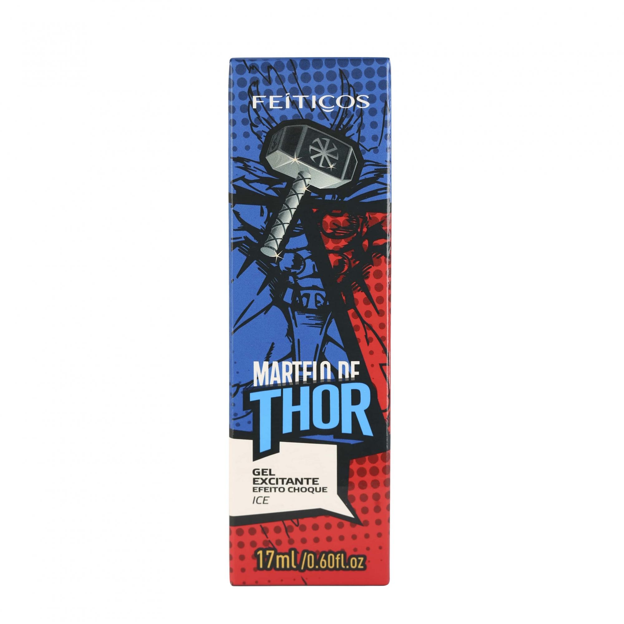 Martelo de Thor - Gel Excitante, Vibrador Ice 17ml - Linha Heróis