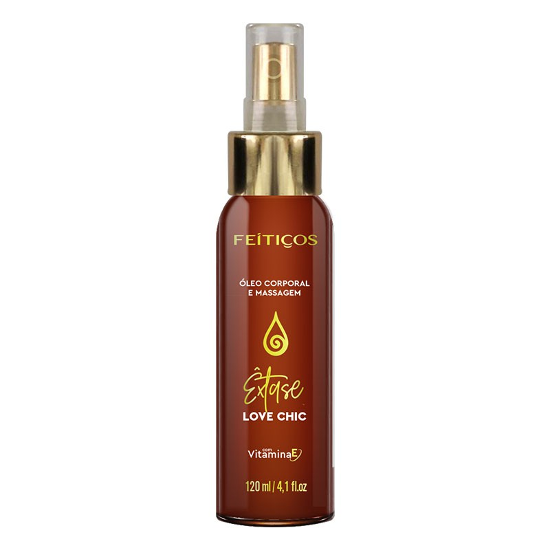 Óleo corporal Spray com Vitamina E - Love Chic - Êxtase - 120ml
