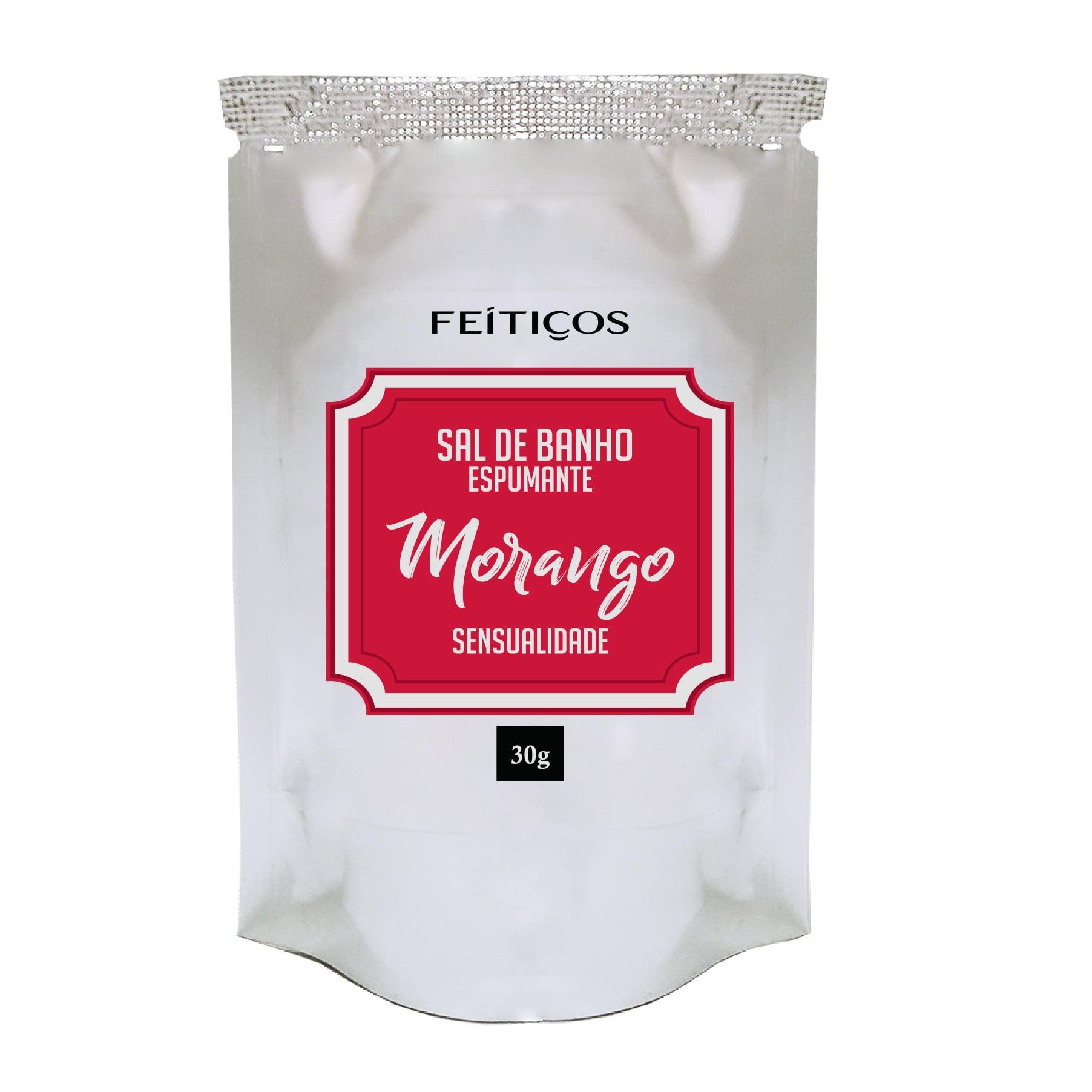 Sal de Banho Espumante Morango - Sensualidade - Sachê 30g