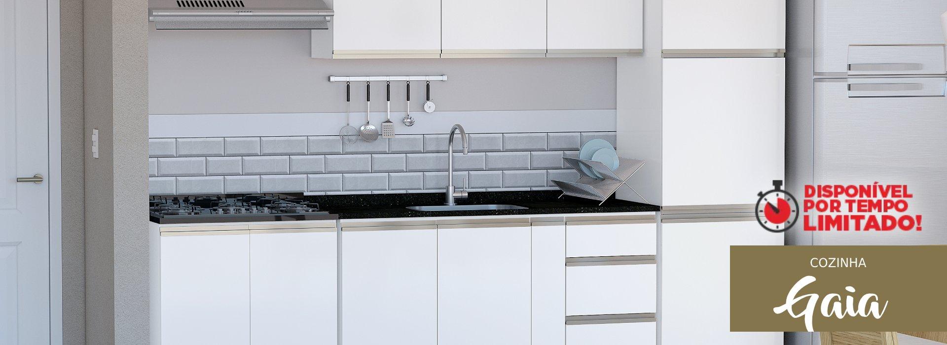 Cozinha Sofisticada em Aço Gaia Cozimax