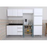 Cozinha Completa em Aço Gaia Flat  Cozimax 4 Peças - Branca