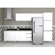 Cozinha Completa em Aço Gaia Flat  Cozimax 5 Peças com Balcão para Cooktop 4 Bocas - Branca