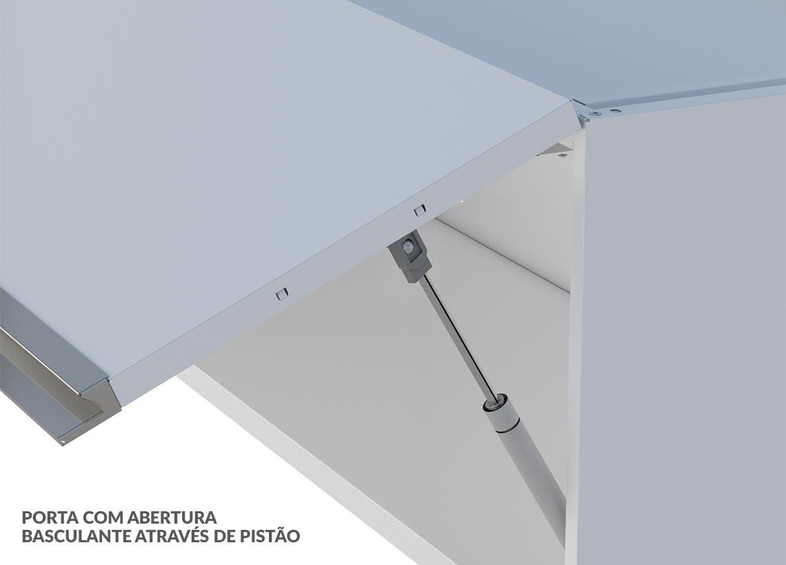 Armário de Geladeira em Aço Gaia Flat Cozimax - Branco