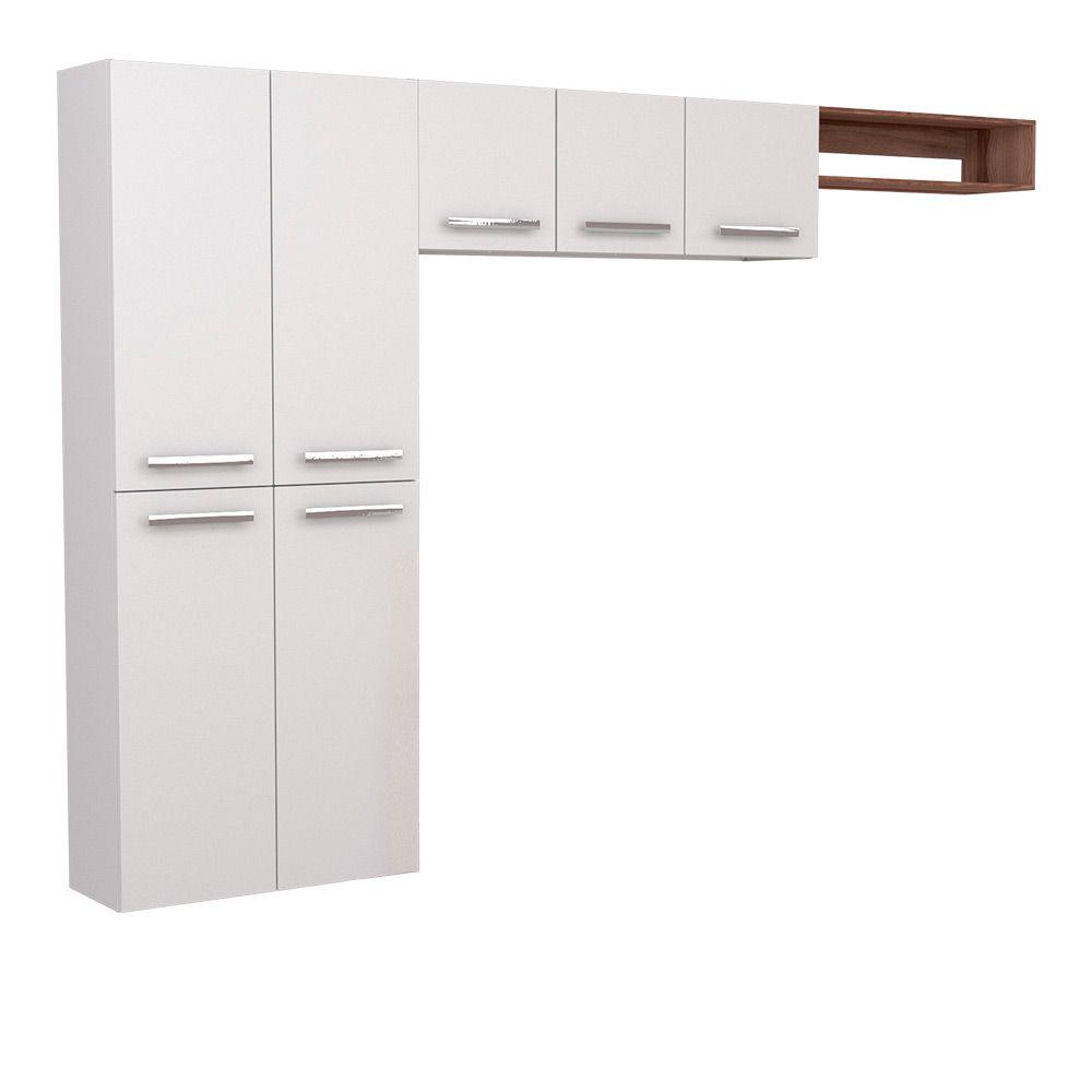 Cozinha Compacta em Aço Alecrim Cozimax 3 Peças - Branca
