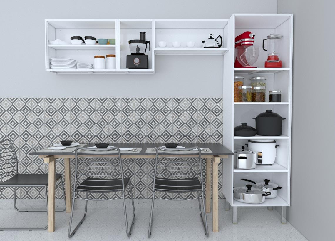 Cozinha Completa em Aço Gaia Flat  Cozimax 3 Peças - Branca