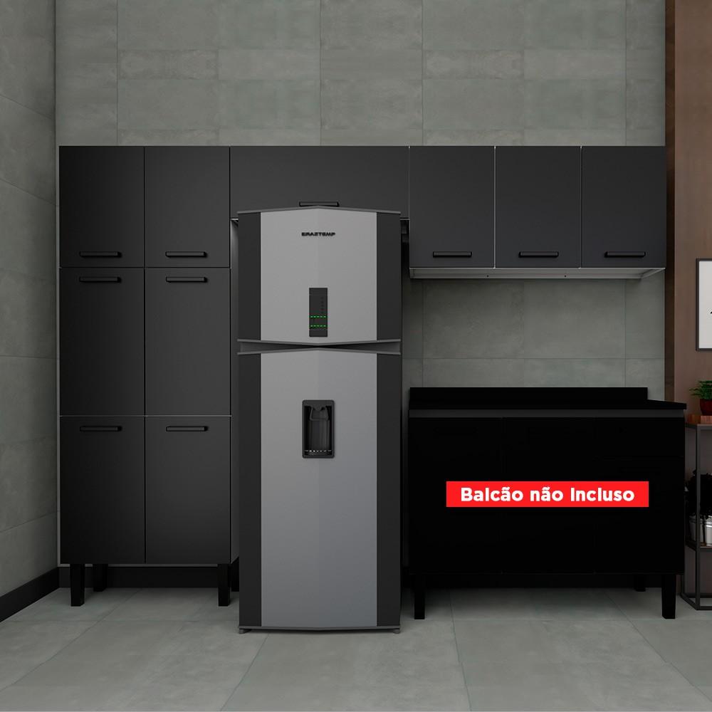 Cozinha Moderna em Aço Oliva Cozimax 3 Peças - Preta