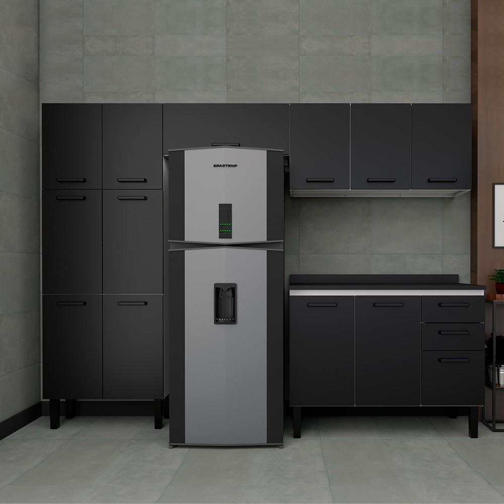Cozinha Moderna em Aço Oliva Cozimax 4 Peças - Preta