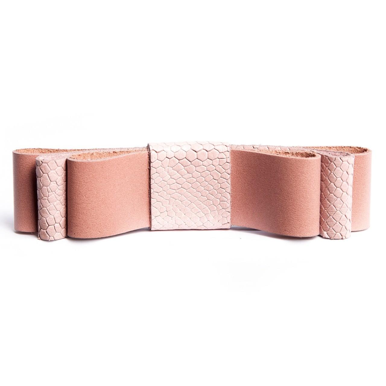 Laço Camadas - Couro Rosa Seco
