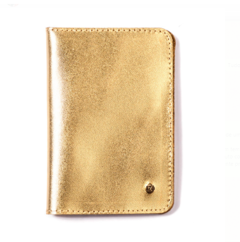 Porta Documentos - Couro Ouro