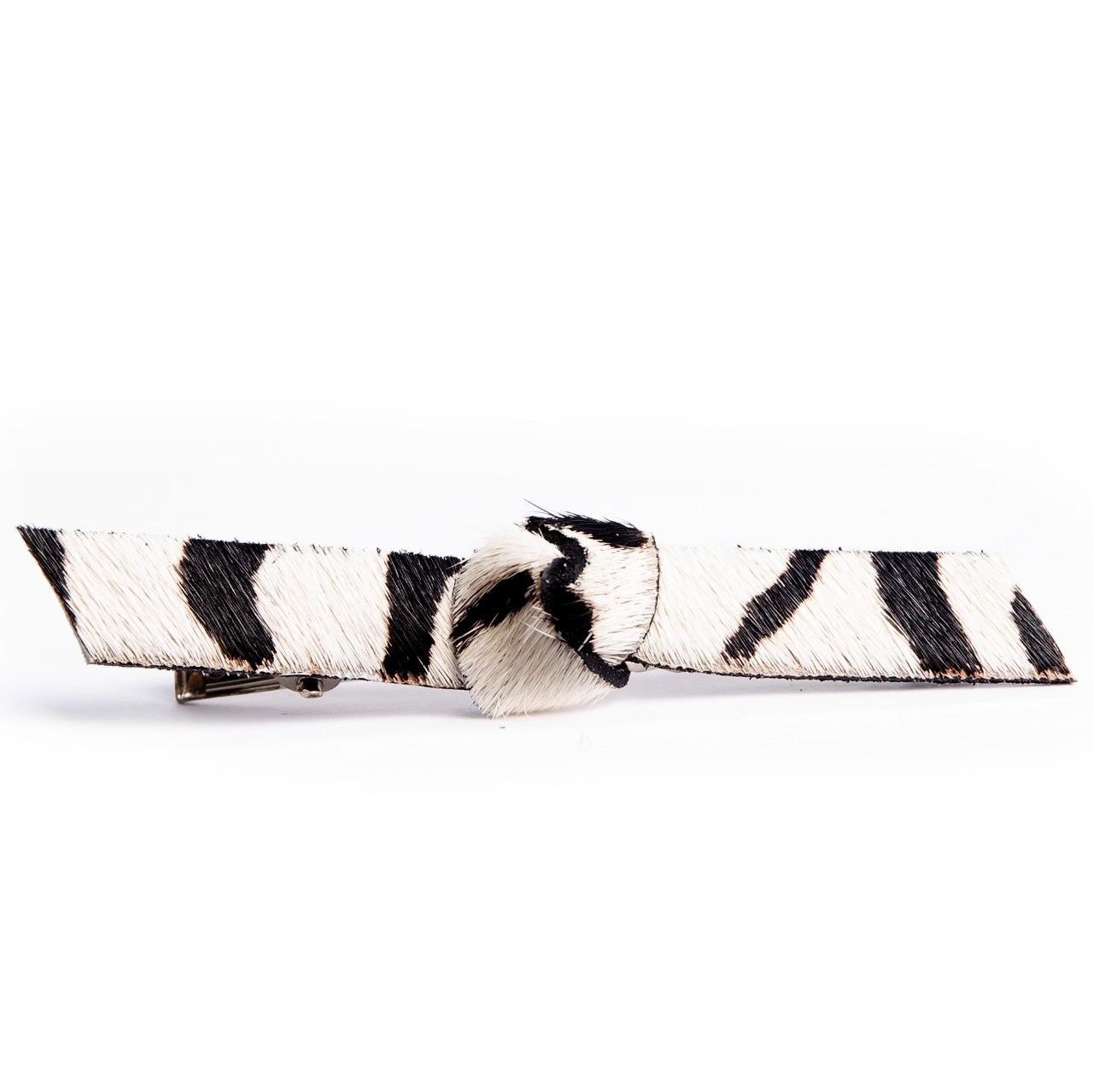Presilha Nó - Couro Zebra