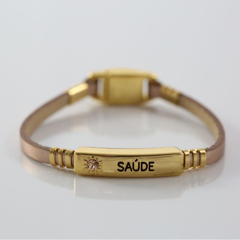 Pulseira Virtude Filha Única/Saúde - Rose Gold com Ouro