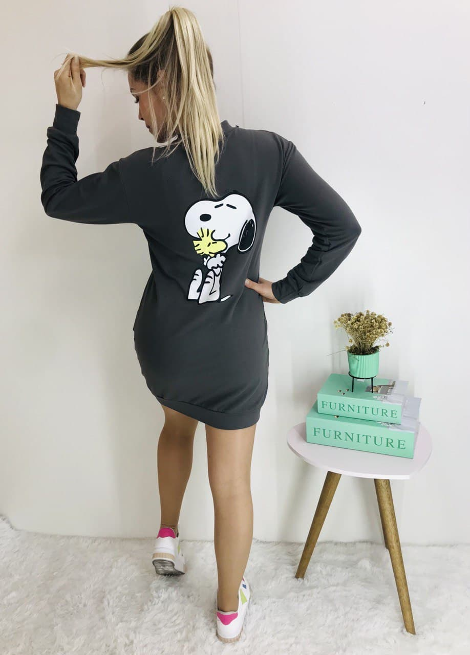 Vestido Snoopy chumbo