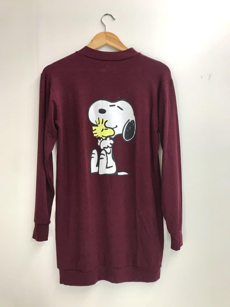 Vestido Snoopy Vinho