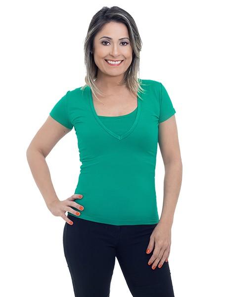 Blusa de amamentação Baby Look - Verde