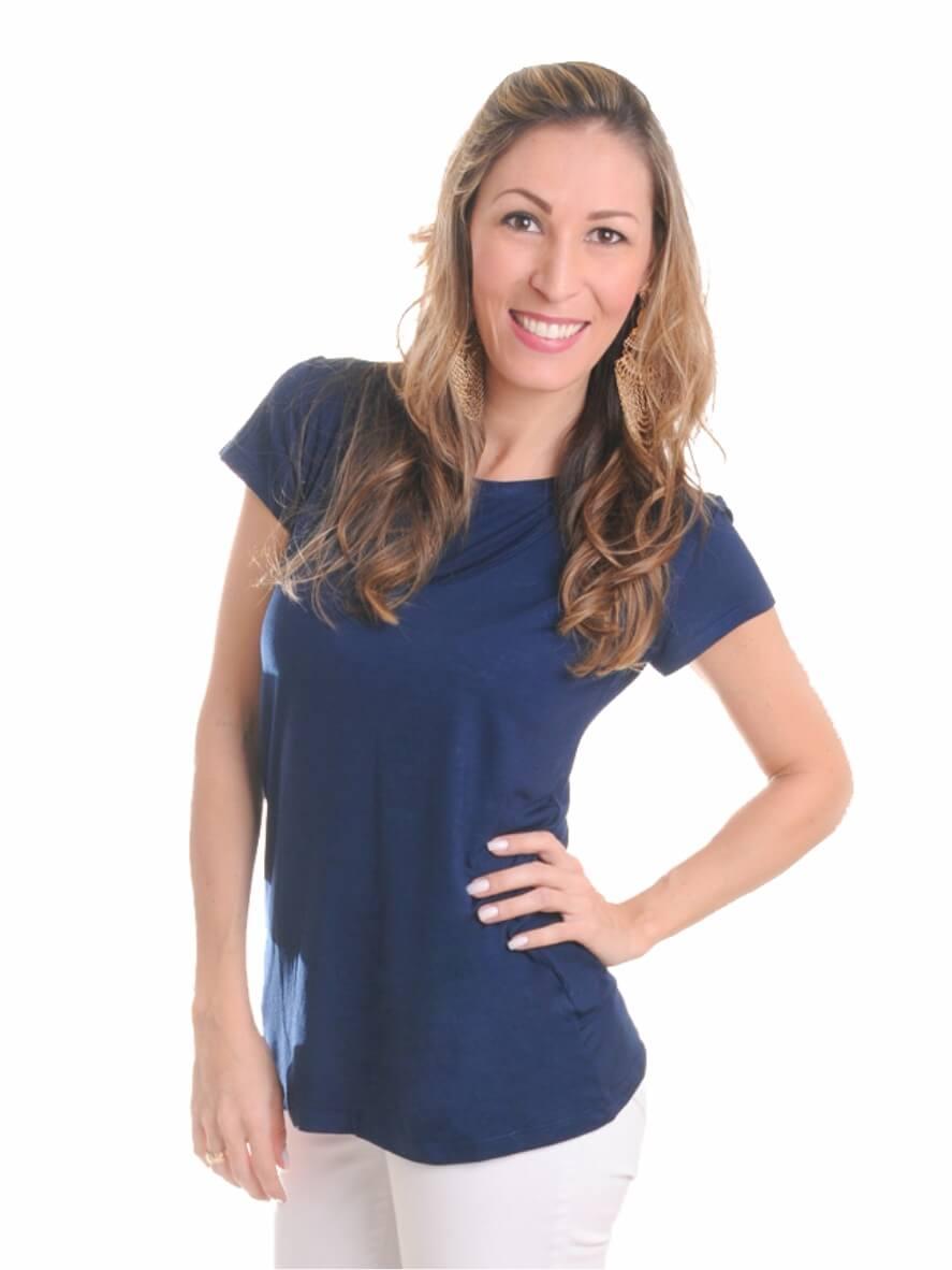 Blusa de amamentação Navy - Azul marinho