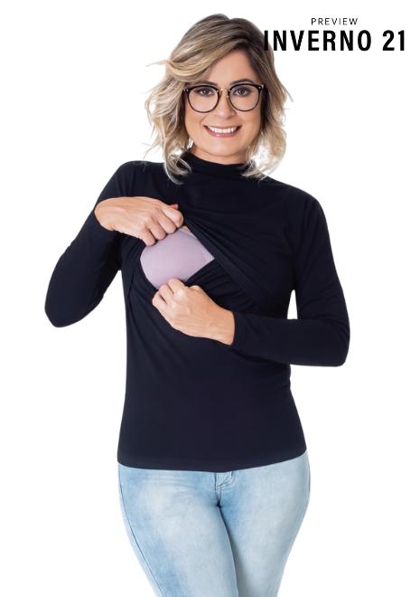 Blusa para amamentar Cacharrel - Preto