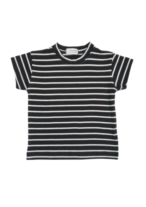 Blusa Tal Filhos Listrada - Menina e Menino - Listrado preto e branco