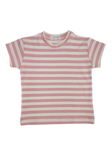 Blusa Tal Filhos Listrada - Menina e Menino - Listrado rosa e branco