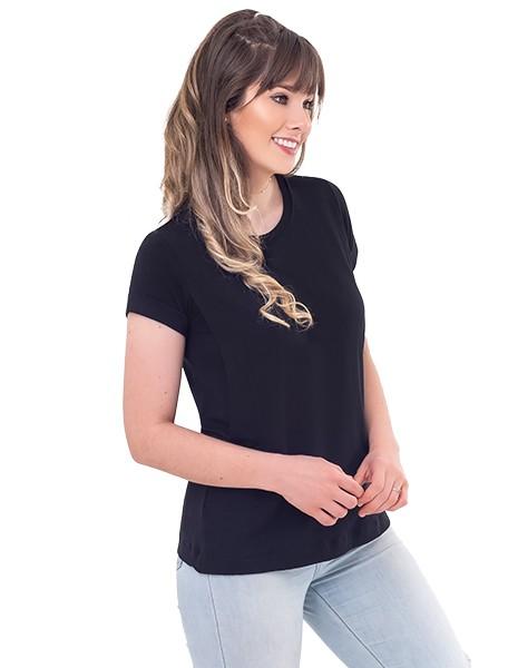Camiseta de amamentação Vienna manga curta - Preta