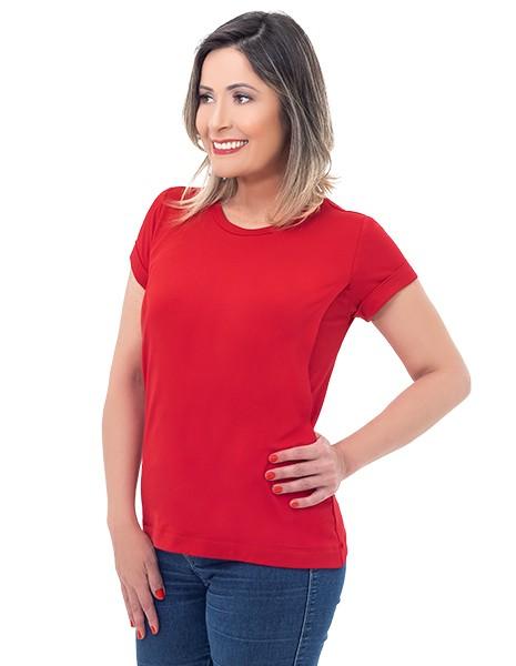 Camiseta de amamentação Vienna manga curta - Vermelha