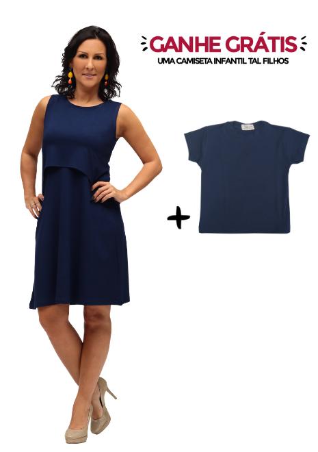 Vestido gestante para amamentar Curve Summer + Blusa Tal Filhos