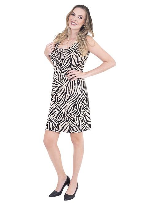 Vestido gestante para amamentar Drapeado Animal Print