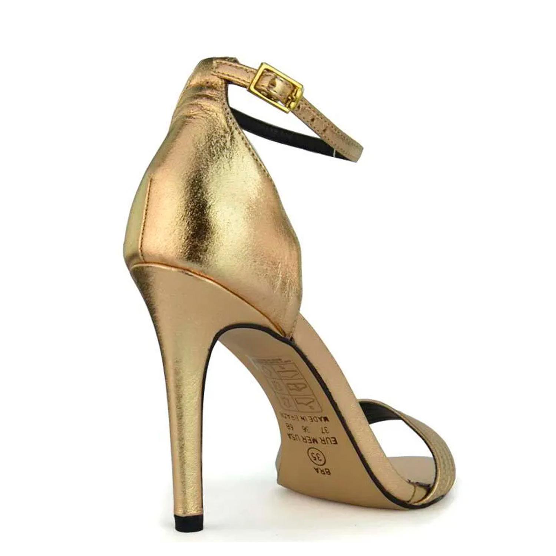 Sandália Gio Gold Bico Folha
