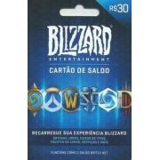 Cartao Blizzard Battle.net R$ 30 Reais