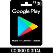 Cartão Google Play R$30 - Brasil