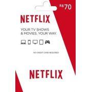 Cartão Pré-Pago Netflix R$ 70