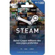 Cartão Presente Steam R$ 100