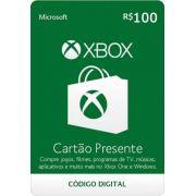 Cartão Presente Xbox R$ 100