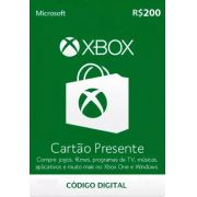 Cartão Presente Xbox R$ 200
