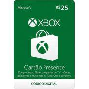 Cartão Presente Xbox R$ 25